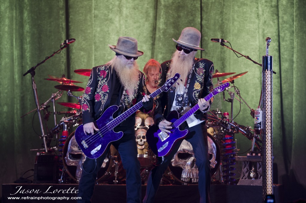 ZZ Top - Dusty Hill, Frank Beard, and Billy Gibbons - Casino NB - 11/13/13